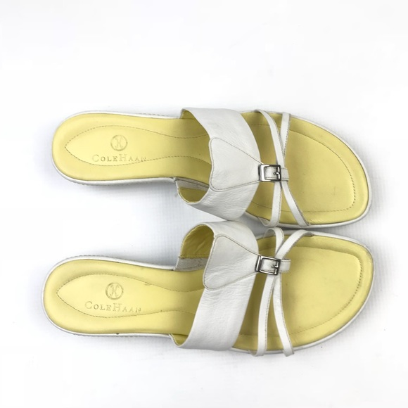 ec19b4b07 Cole Haan Shoes - Cole Haan Nike white flat sandals